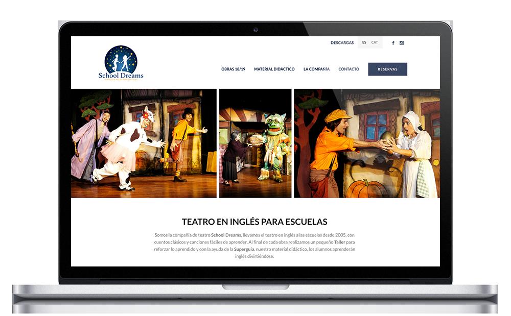 School Dreams ★ Teatro en inglés para escuelas ★ Website