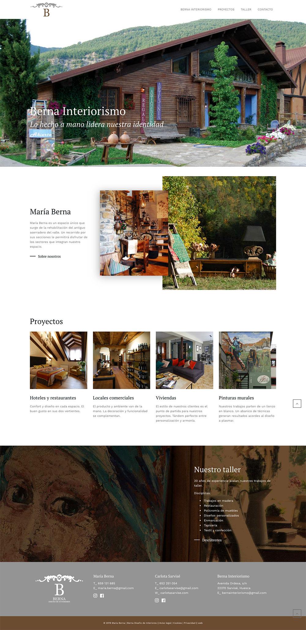 Berna Interiorismo ★ Diseño de interiores ★ Website