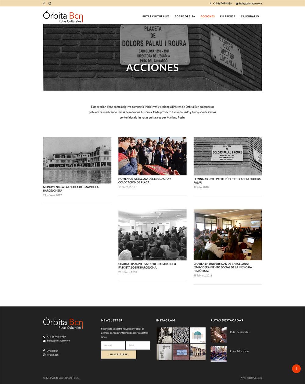 Órbita Bcn ★ Rutas Culturales por Barcelona ★ Website