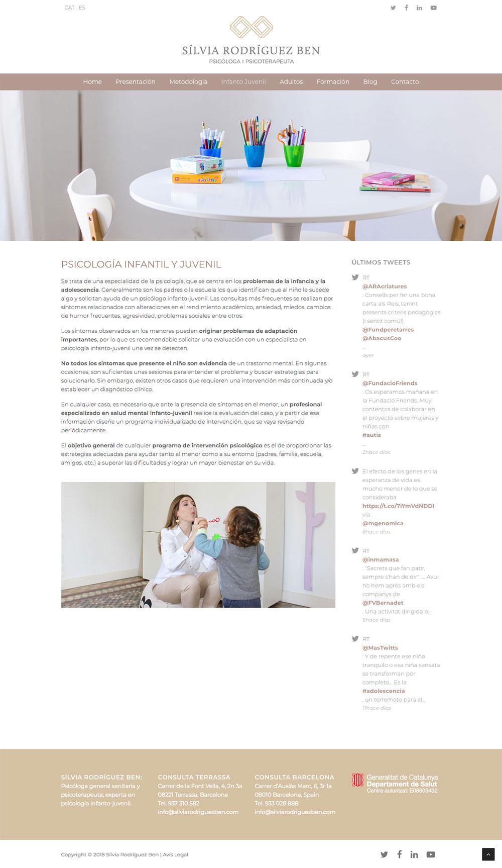 Sílvia Rodríguez Ben ★ Psicóloga y Psicoterapeuta ★ Website