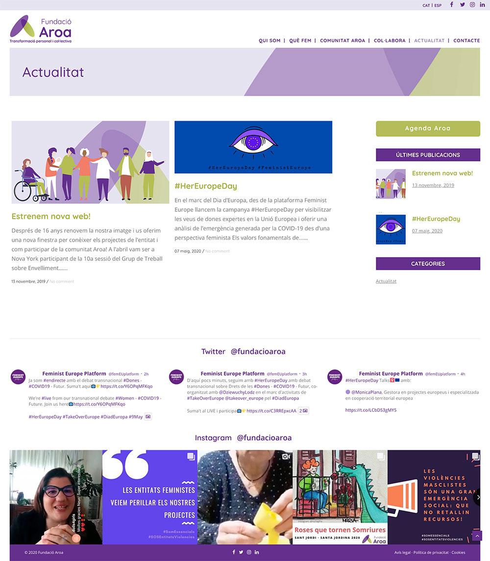 Fundació Aroa ★ Transformación personal y colectiva ★ Website