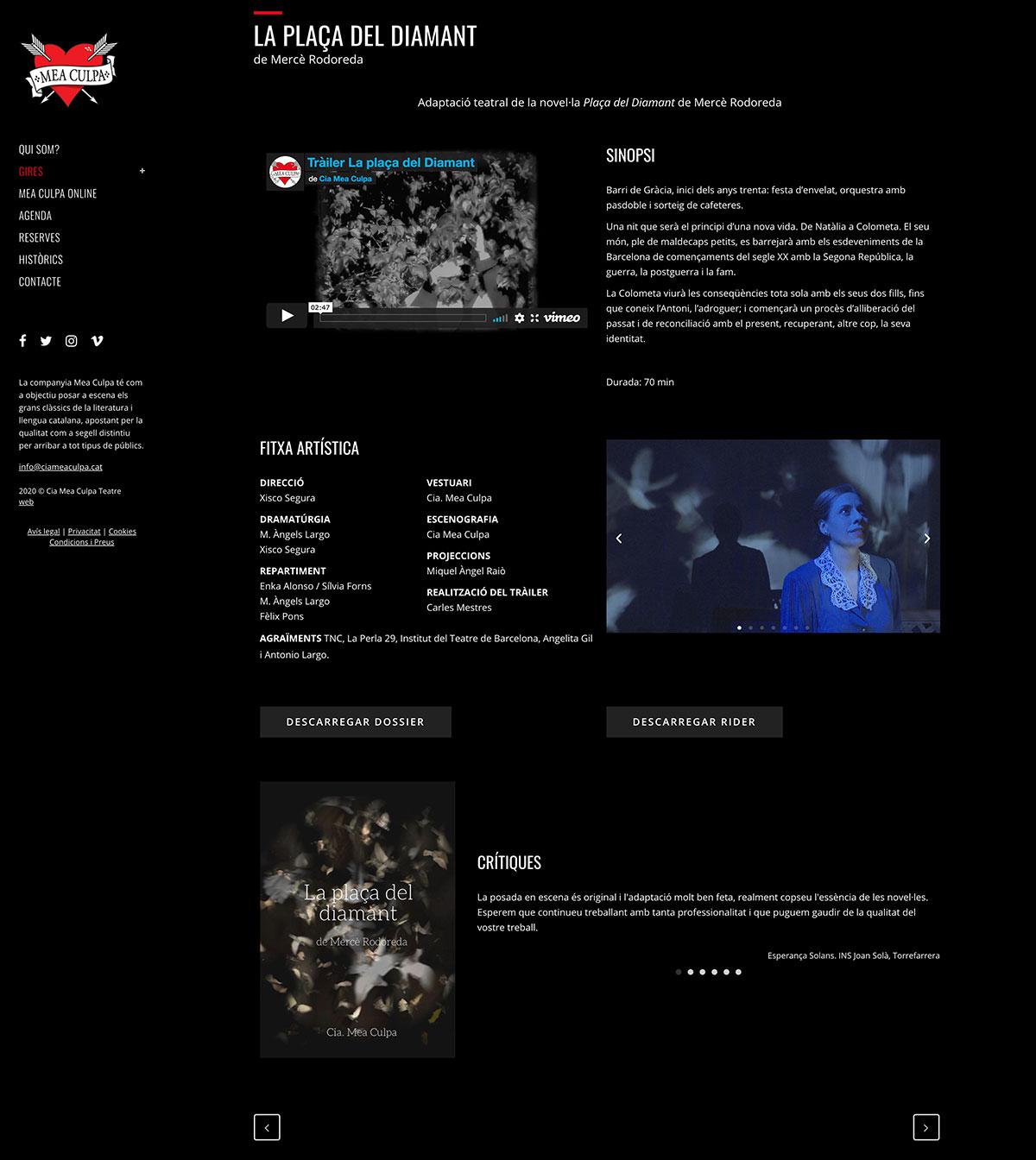 Cia Mea Culpa ★ Compañía de teatro en catalán ★ Website