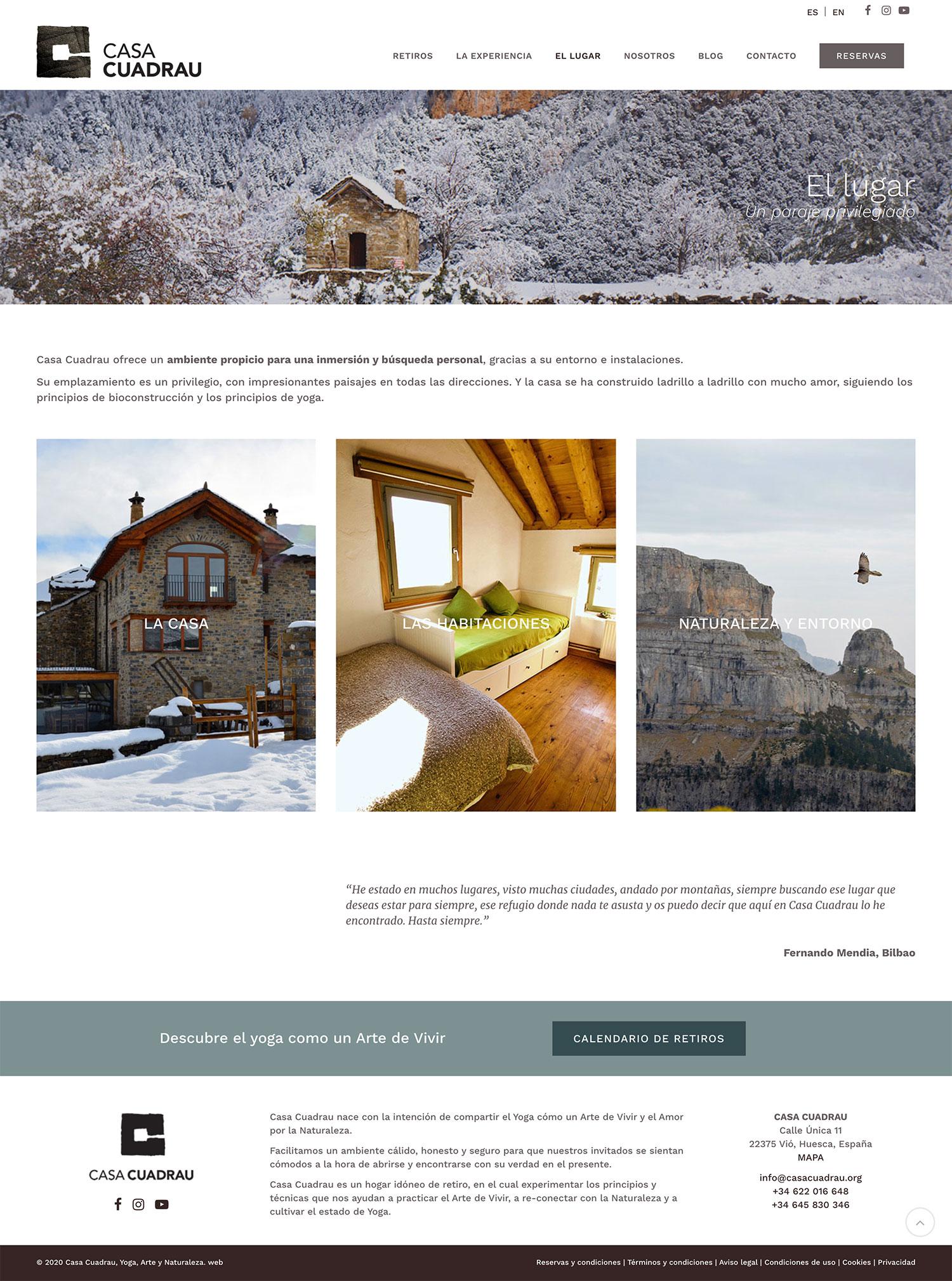 Casa Cuadrau ★ Retiros de Yoga en el Pirineo ★ Website